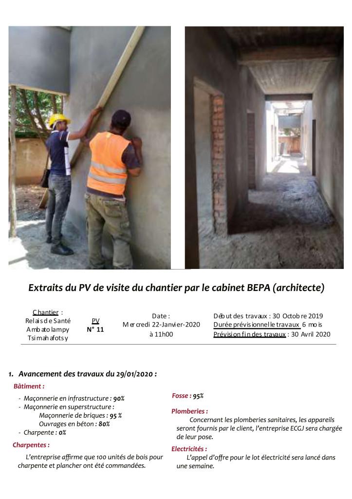 Plaque photos chantier n°2 du 29 janvier